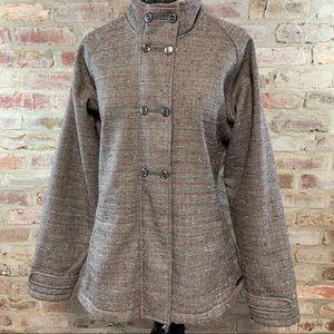 Merrell plaid tweed coat